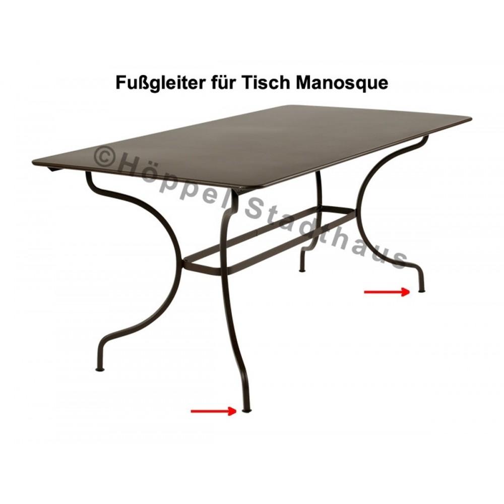 Fermob Fußgleiter für den Tisch Manosque