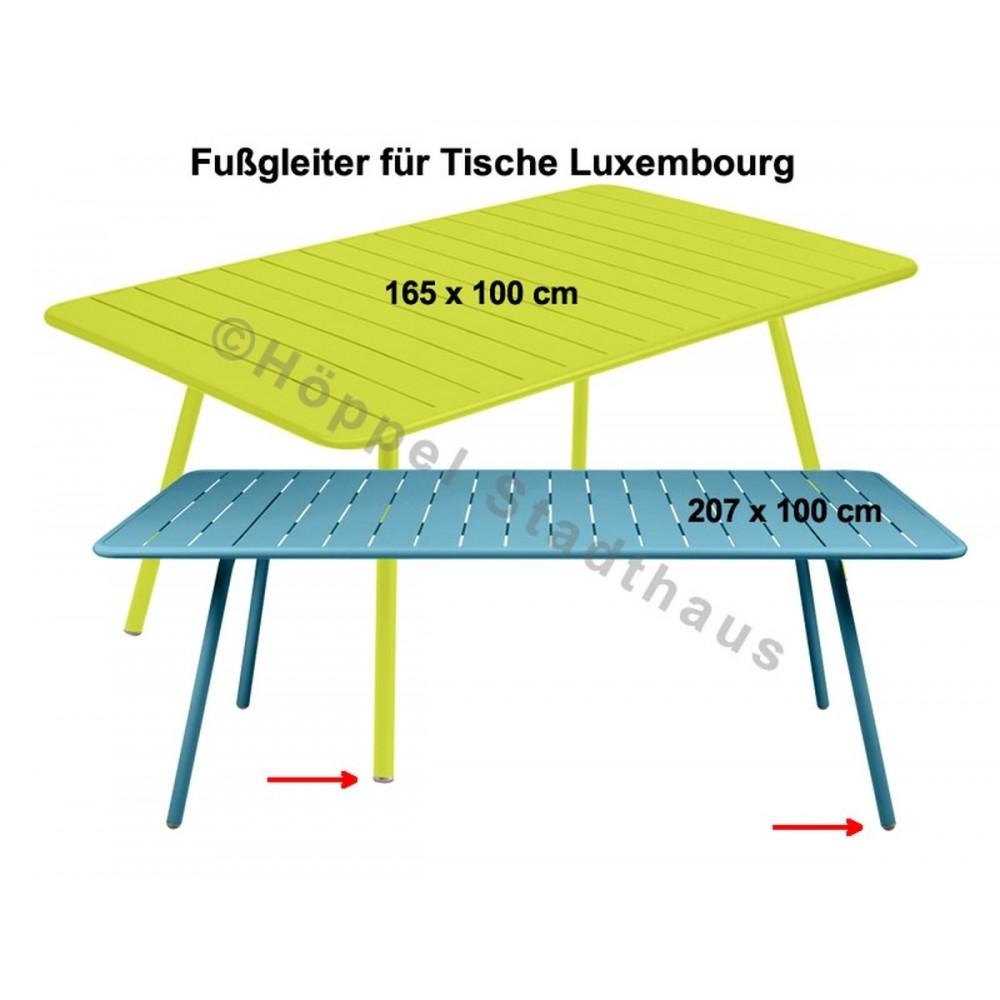 Fermob Fußgleiter für die Tische Luxembourg, 165 x 100 cm und 207 x 100 cm