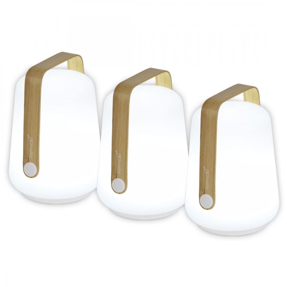Fermob Lampe Balad Bamboo, H: 12 cm, 3er-Set