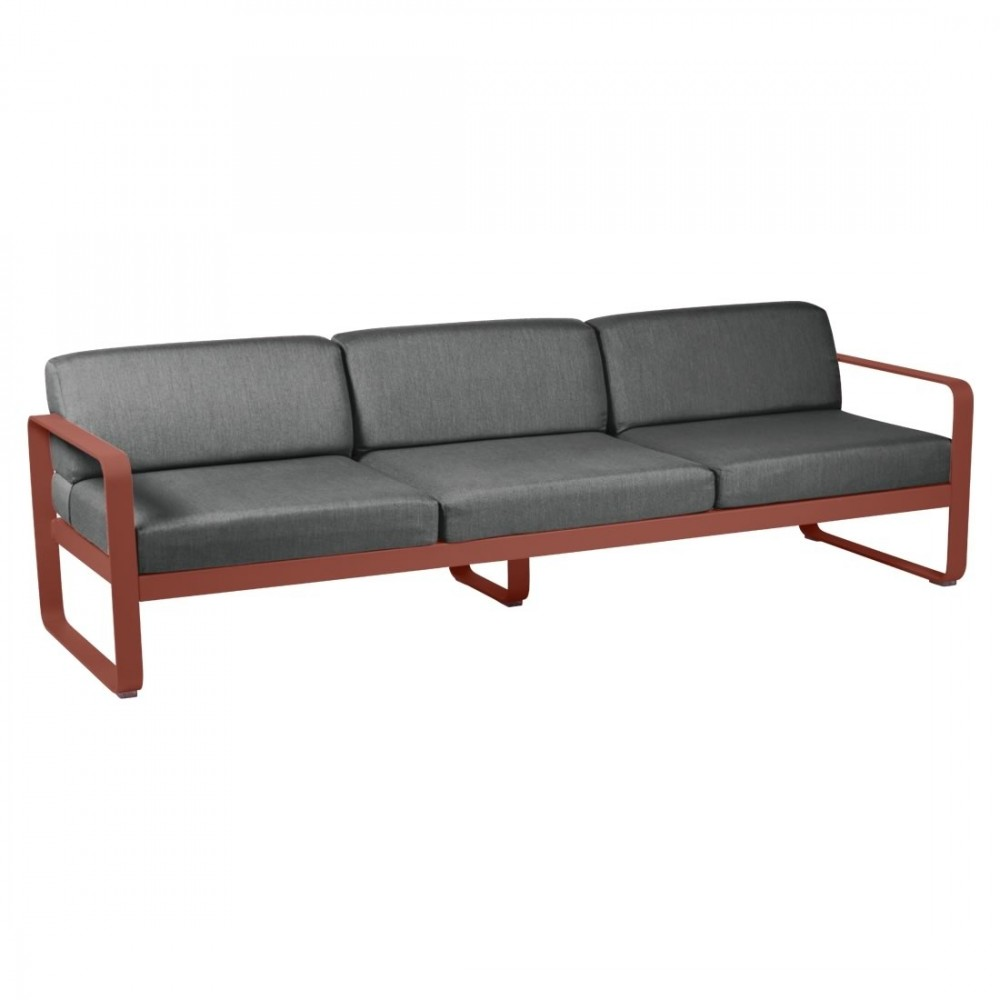 Fermob Sofa Bellevie, 3-Sitzer - Graphitgrau