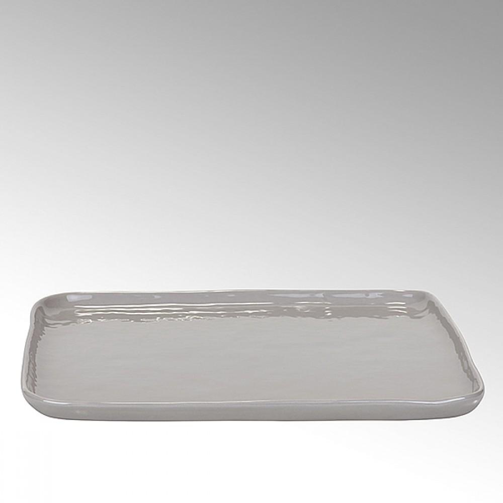 Lambert quadratischer Teller / Speisenteller - Hartsteinzeug Piana