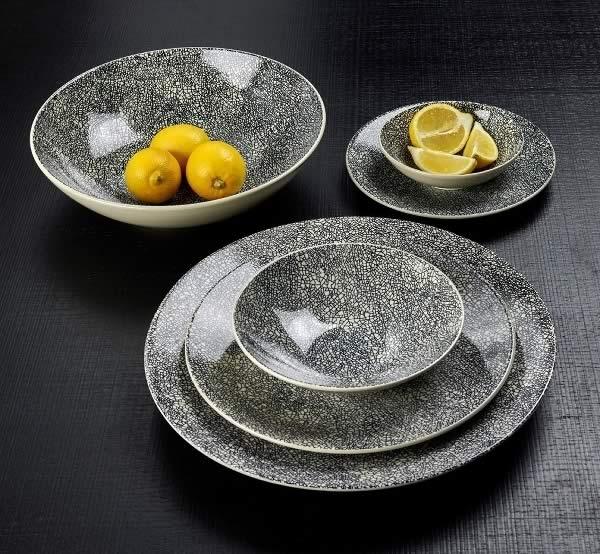 Stoneware Kaori - Weiss / Schwarz