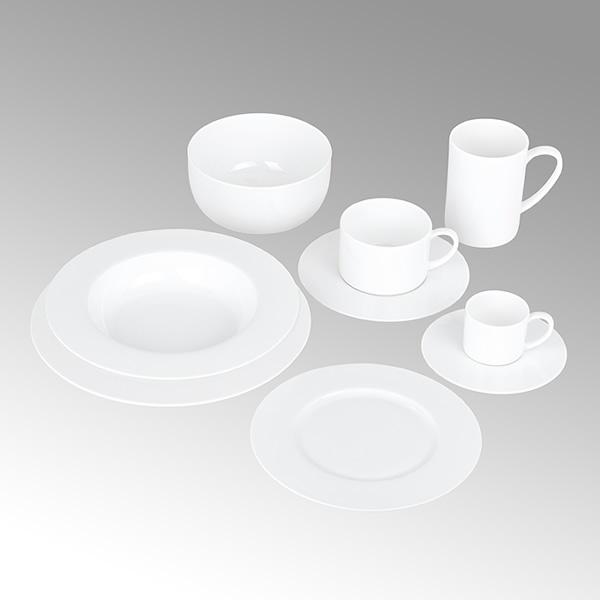 Porzellan Serene - Weiß