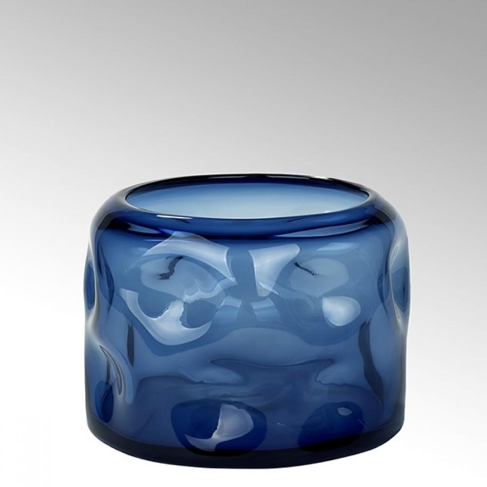 Lambert Glasvase Carracci, Petrol, H 19 cm