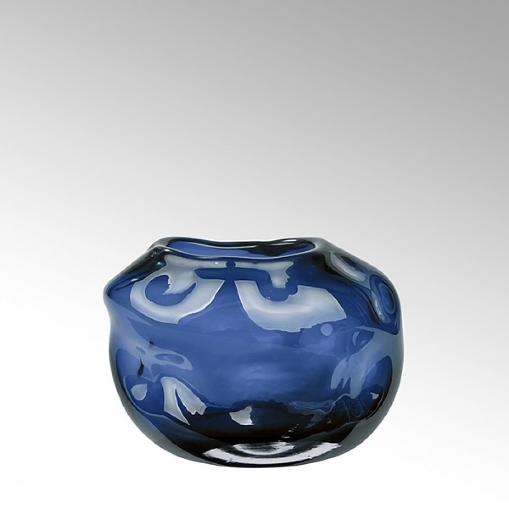 Lambert Glasvase Carracci, Petrol, H 15 cm