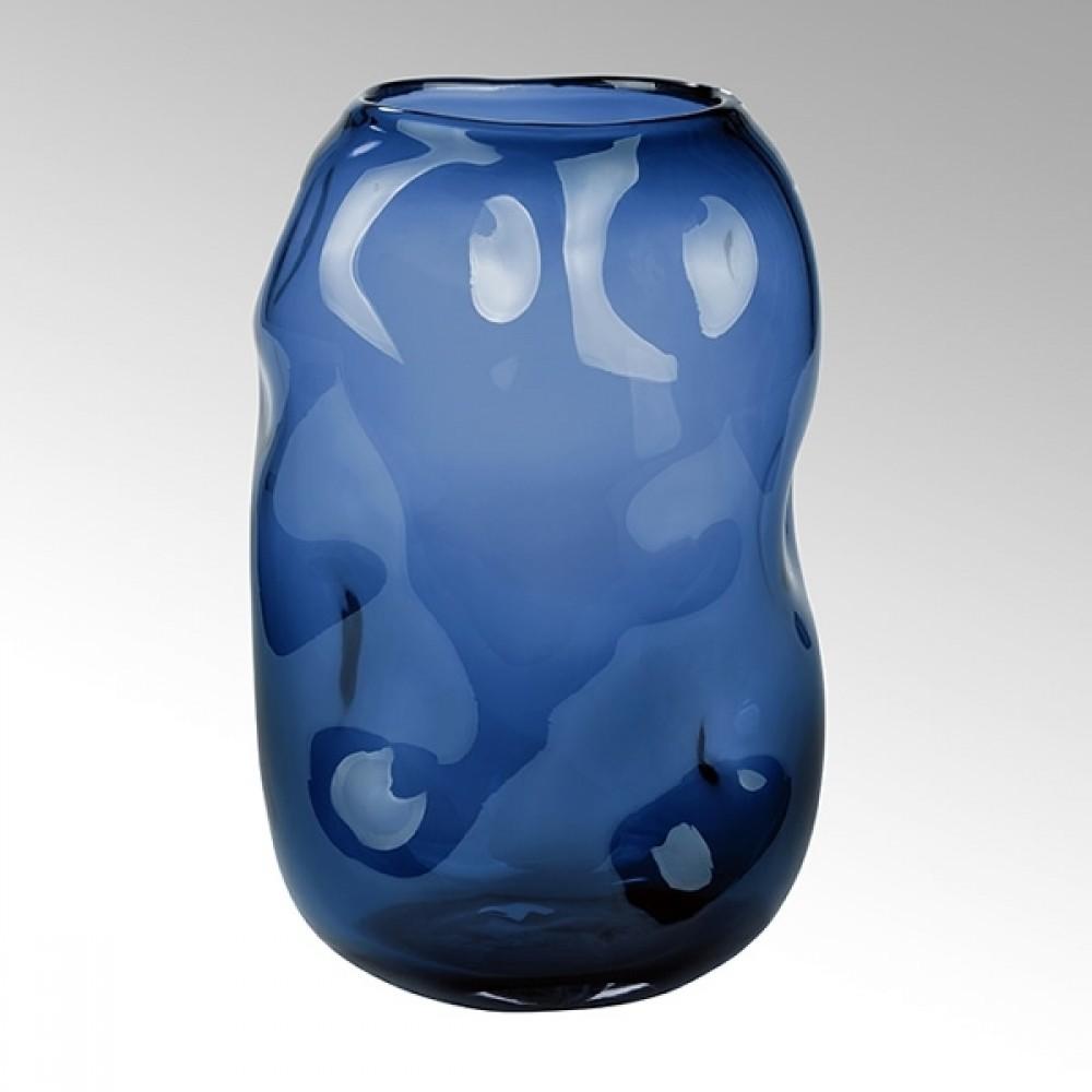 Lambert Glasvase Carracci, Petrol, H 29 cm