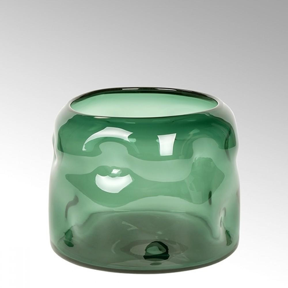 Lambert Glasvase Carracci, Smaragd, H 19 cm