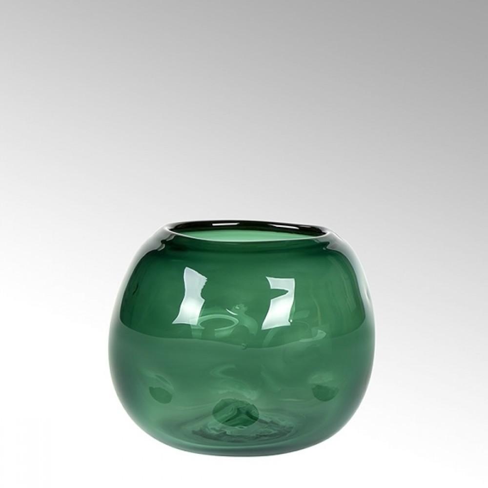 Lambert Glasvase Carracci, Smaragd, H 15 cm