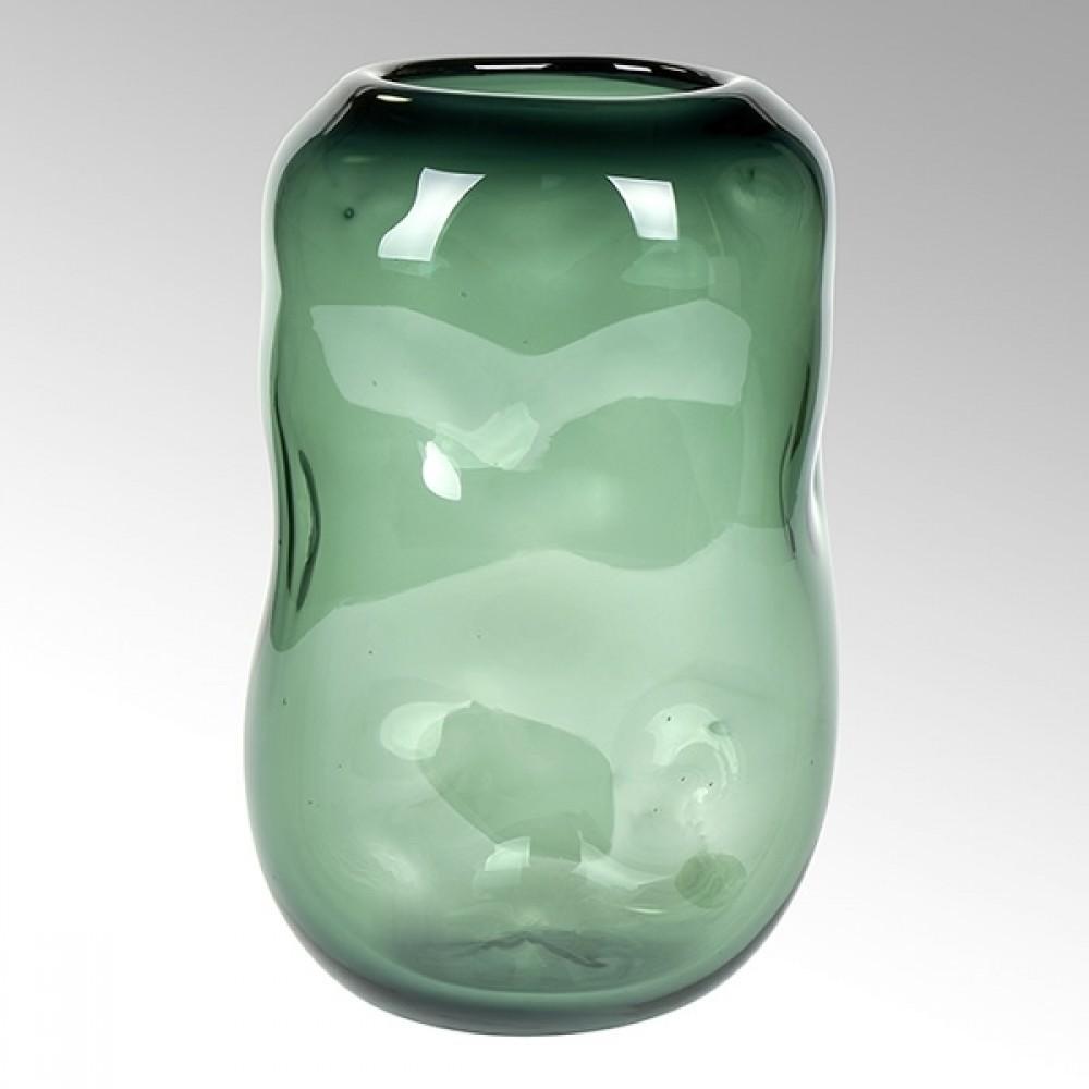 Lambert Glasvase Carracci, Smaragd, H 29 cm