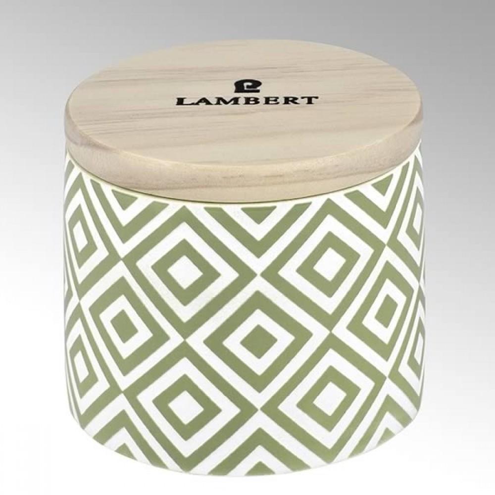 Lambert Duftkerze Ebba, Keramikgefäß mit Deckel, Celadon