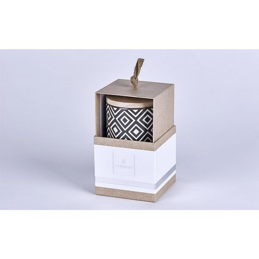 Lambert Duftkerze Ebba - Keramikgefäß mit Deckel
