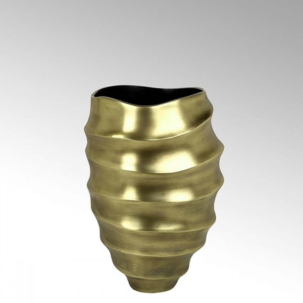 Lambert Gefäß Yasun, matt Gold, H 30 cm