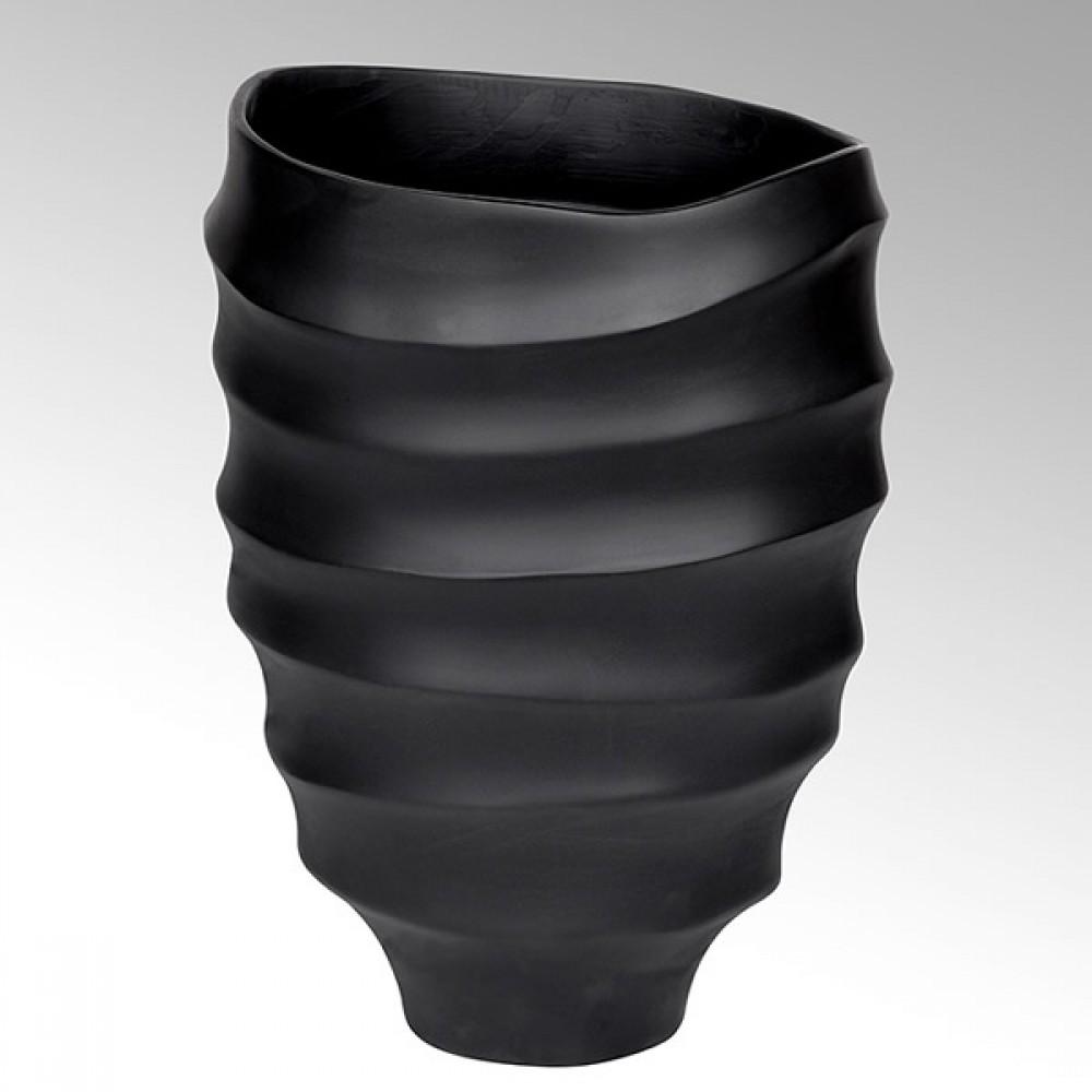 Lambert Gefäß Yasun, matt Schwarz, H 40 cm