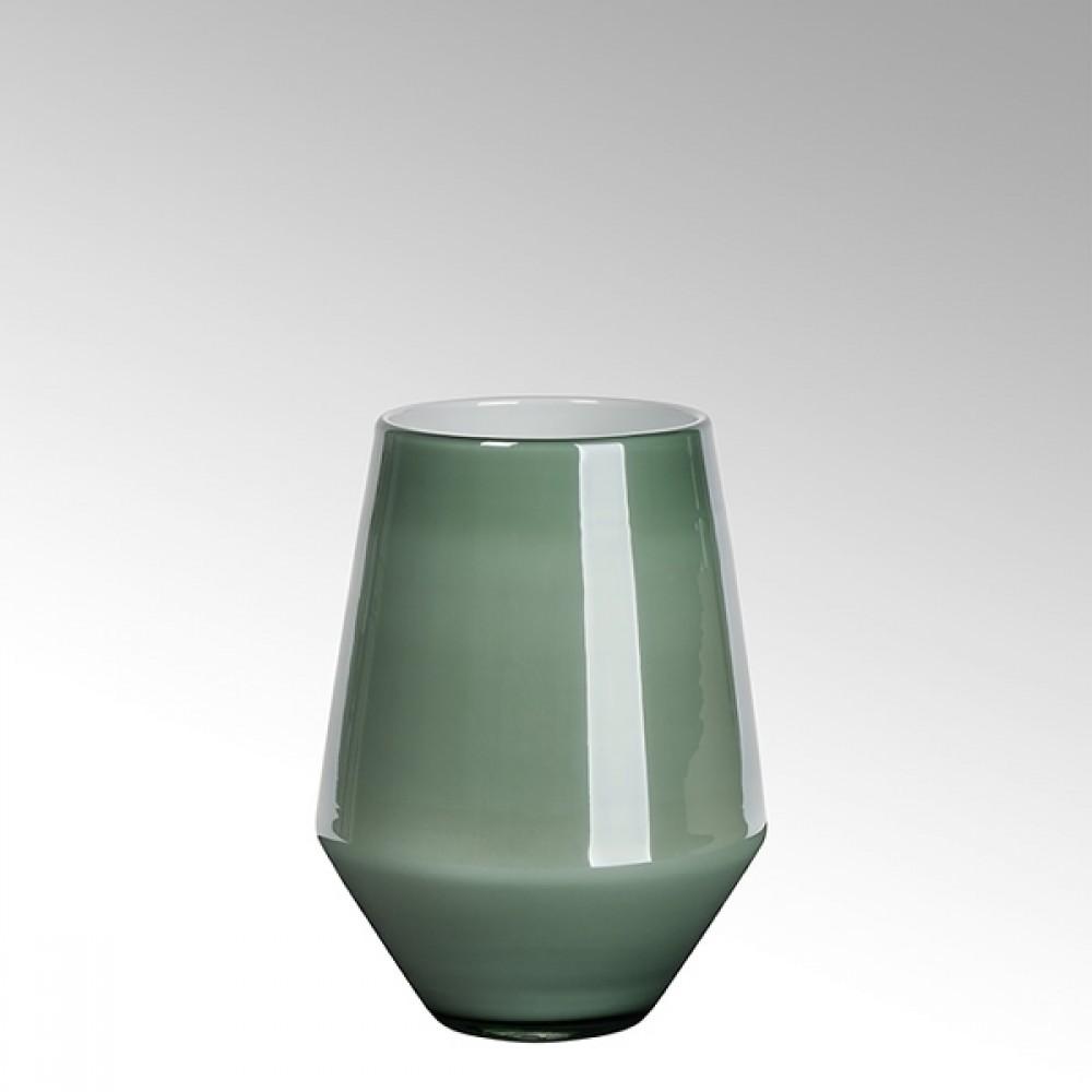 Lambert Glasvase Como, Petrol / Metallic, H 22 cm