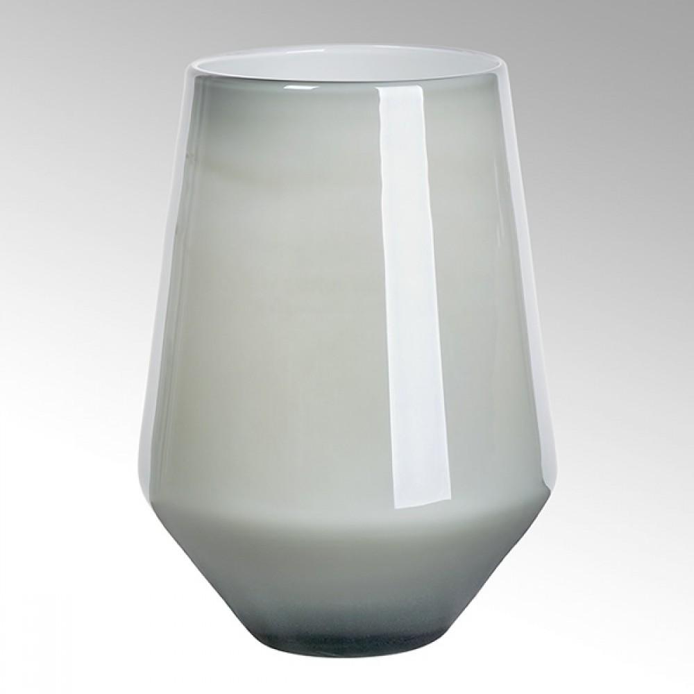 Lambert Glasvase Como, Blaugrau / Metallic, H 32,5 cm