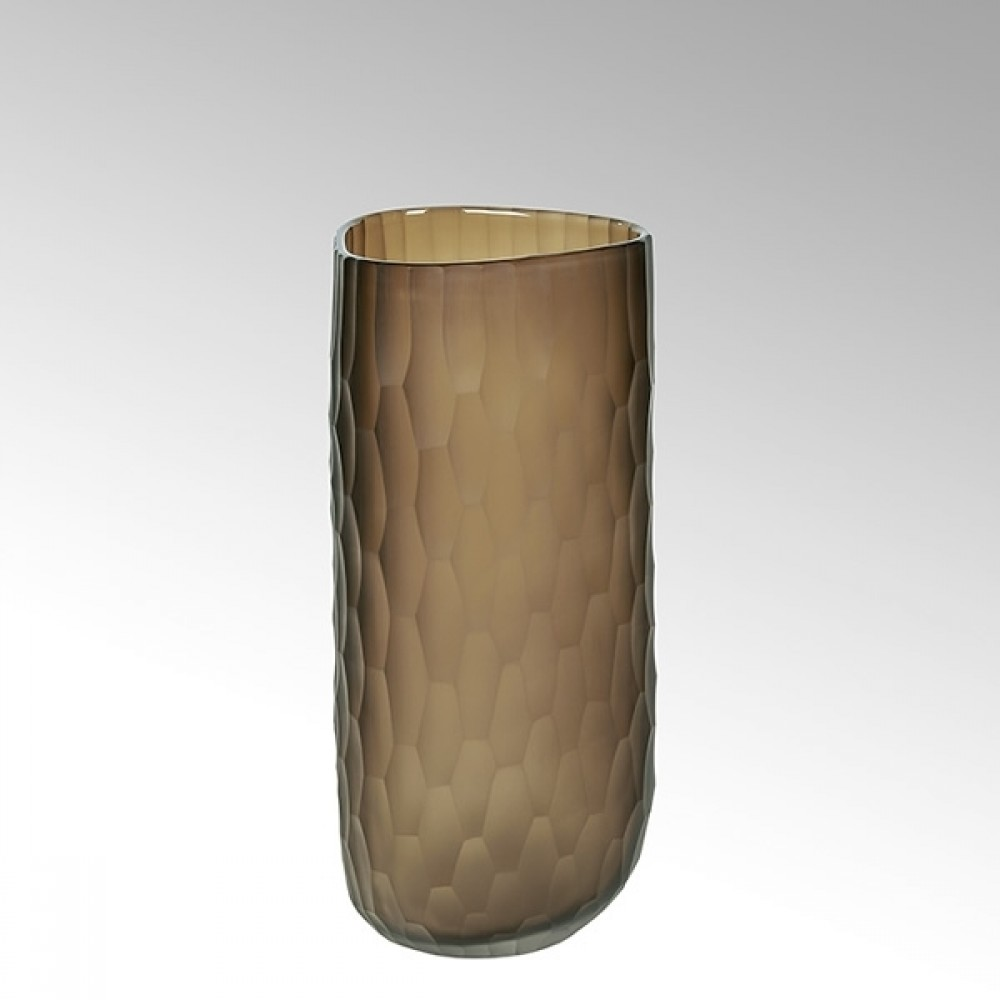 Lambert Glasvase Tura, Tabak, H 14 cm