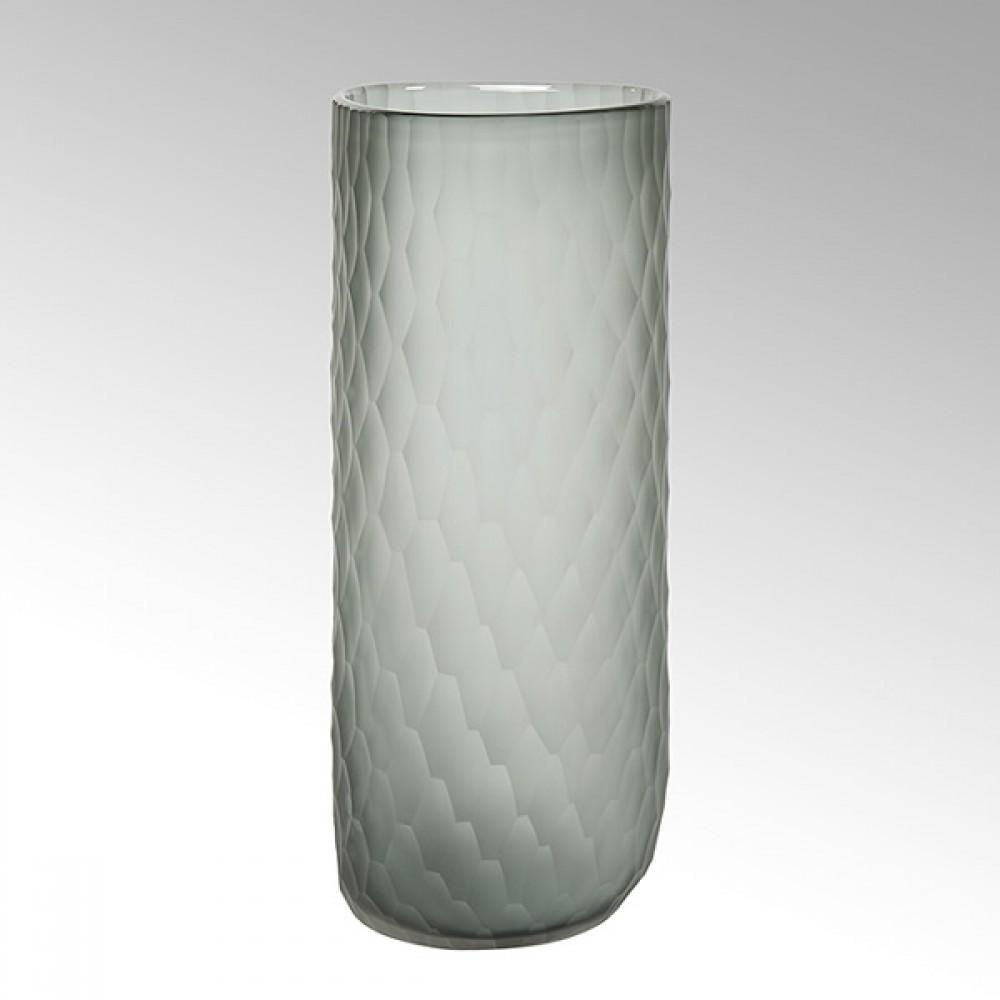 Lambert Glasvase Tura, Rauchgrau, H 16 cm
