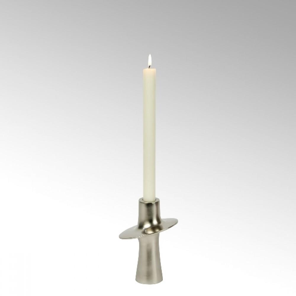 Lambert Kerzenleuchter Proton, Nickel Matt, H 14 cm