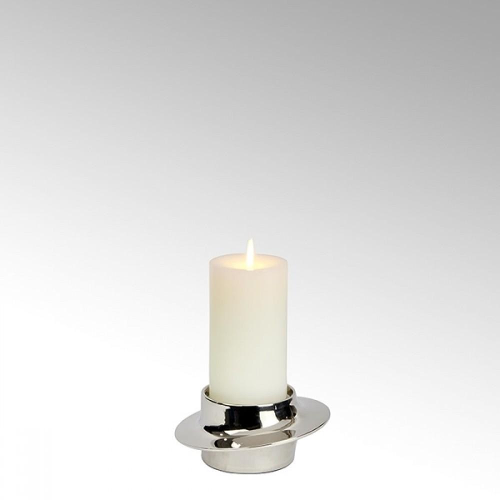 Lambert Kerzenleuchter Proton, Nickel Matt, H 7 cm