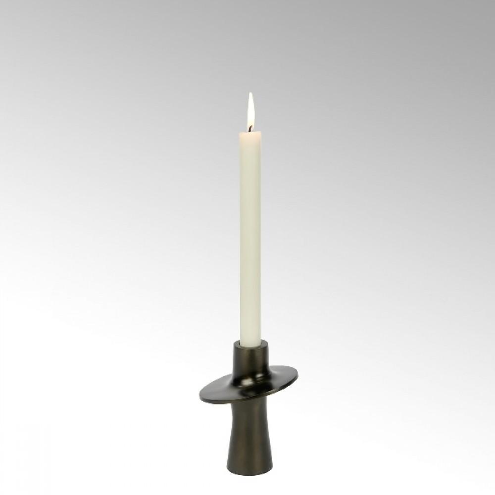 Lambert Kerzenleuchter Proton, Dunkelbronze, H 14 cm