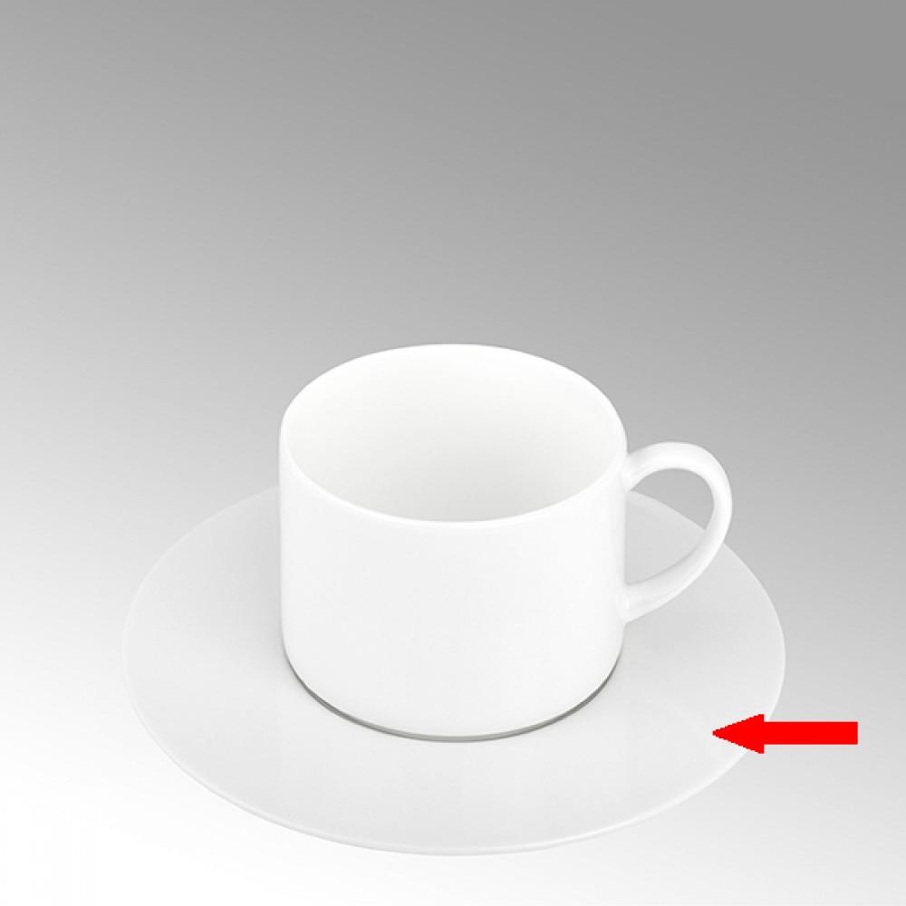 Lambert Teetasse / Kaffeetasse Untertasse, Porzellan Serene - Weiß