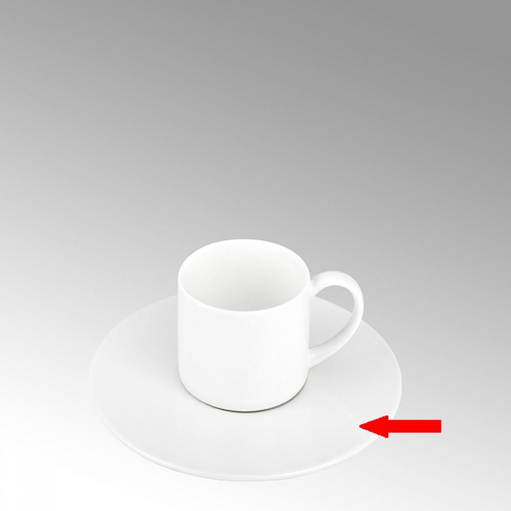 Lambert Espressotasse Untertasse, Porzellan Serene - Weiß