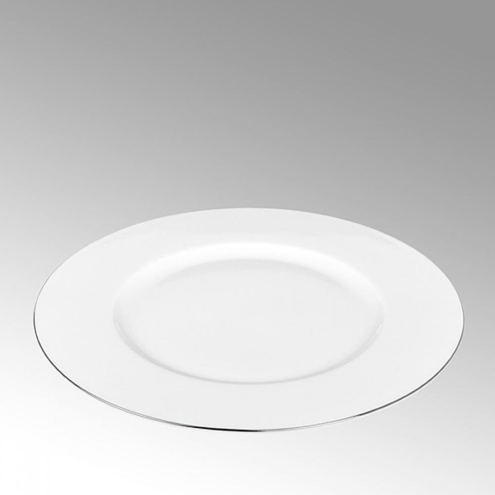 Lambert Frühstücksteller, Porzellan Serene - Platinrand
