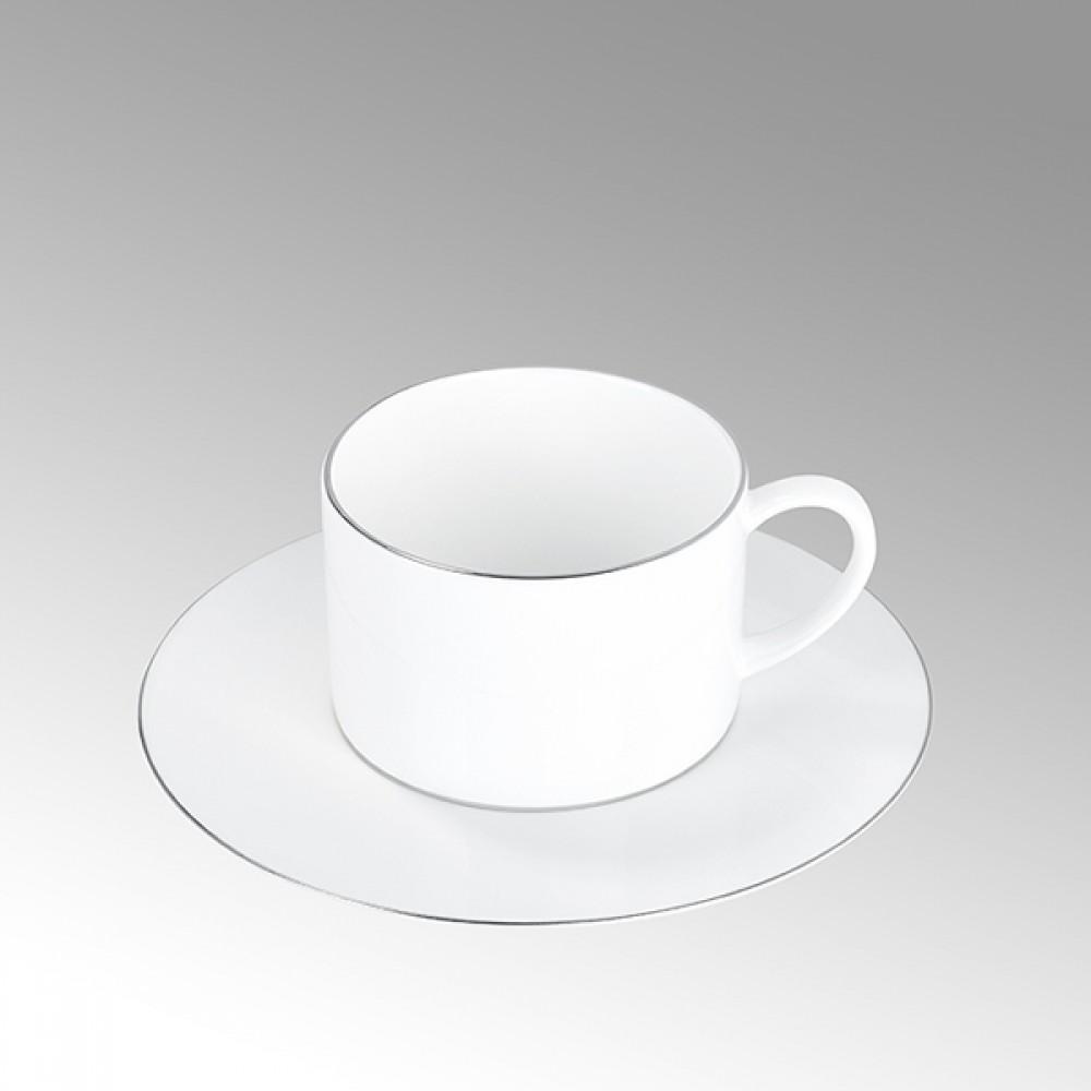 Lambert Teetasse / Kaffeetasse, Porzellan Serene - Platinumrand
