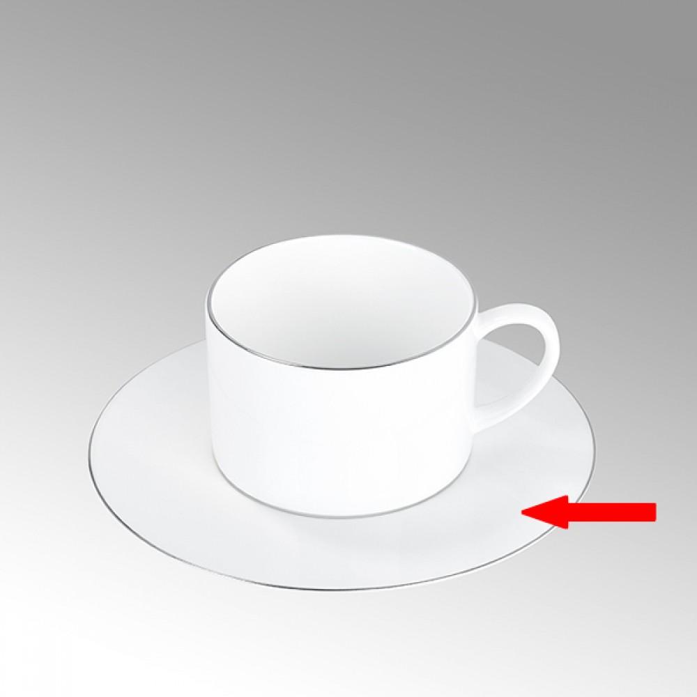 Lambert Teetasse / Kaffeetasse Untertasse, Porzellan Serene - Platinumrand