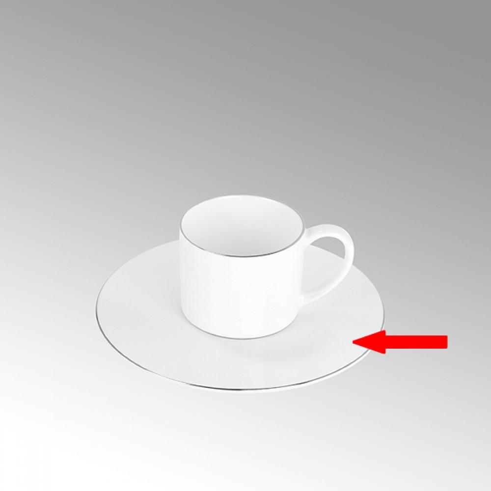 Lambert Espressotasse Untertasse, Porzellan Serene - Platinumrand