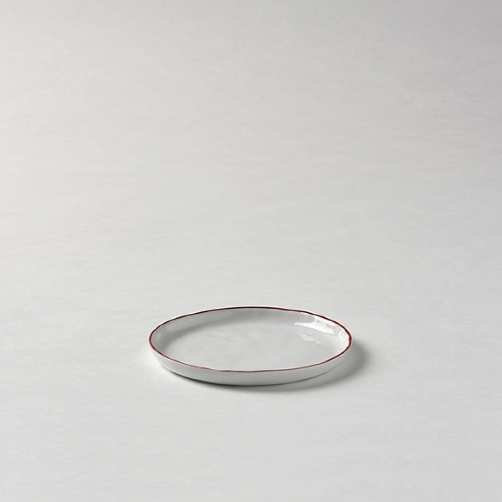 Lambert Teller / Untertasse, Porzellan Piana - Rot