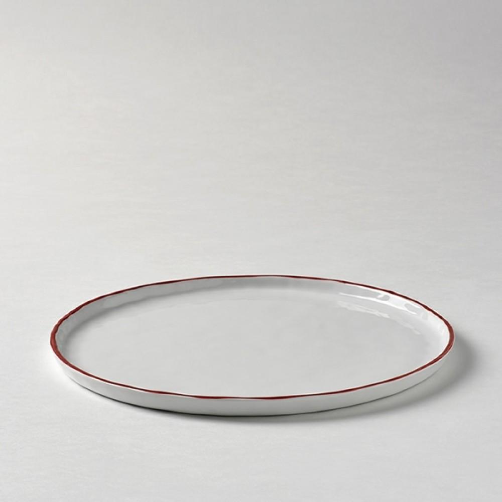 Lambert Teller / Vorspeisenteller, Porzellan Piana - Rot