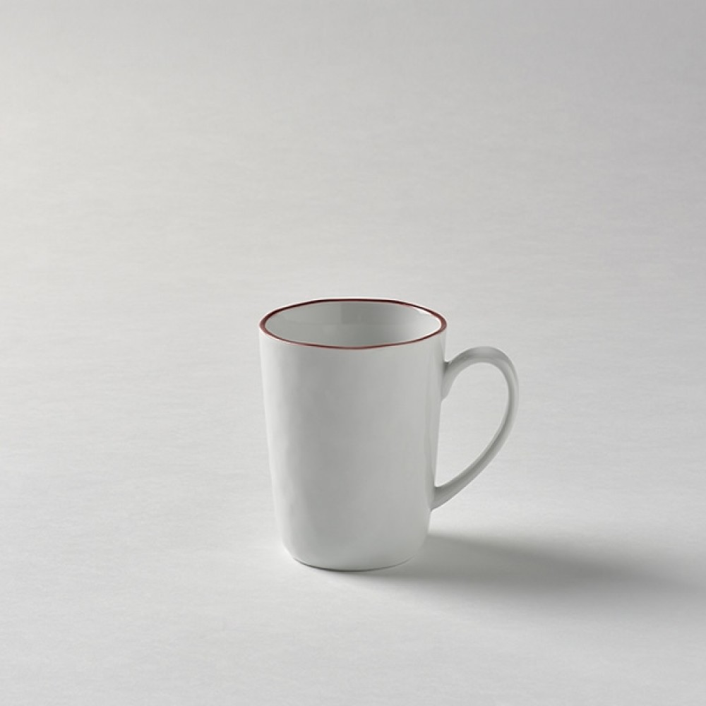 Lambert große Tasse / Kaffeetasse, Porzellan Piana - Rot