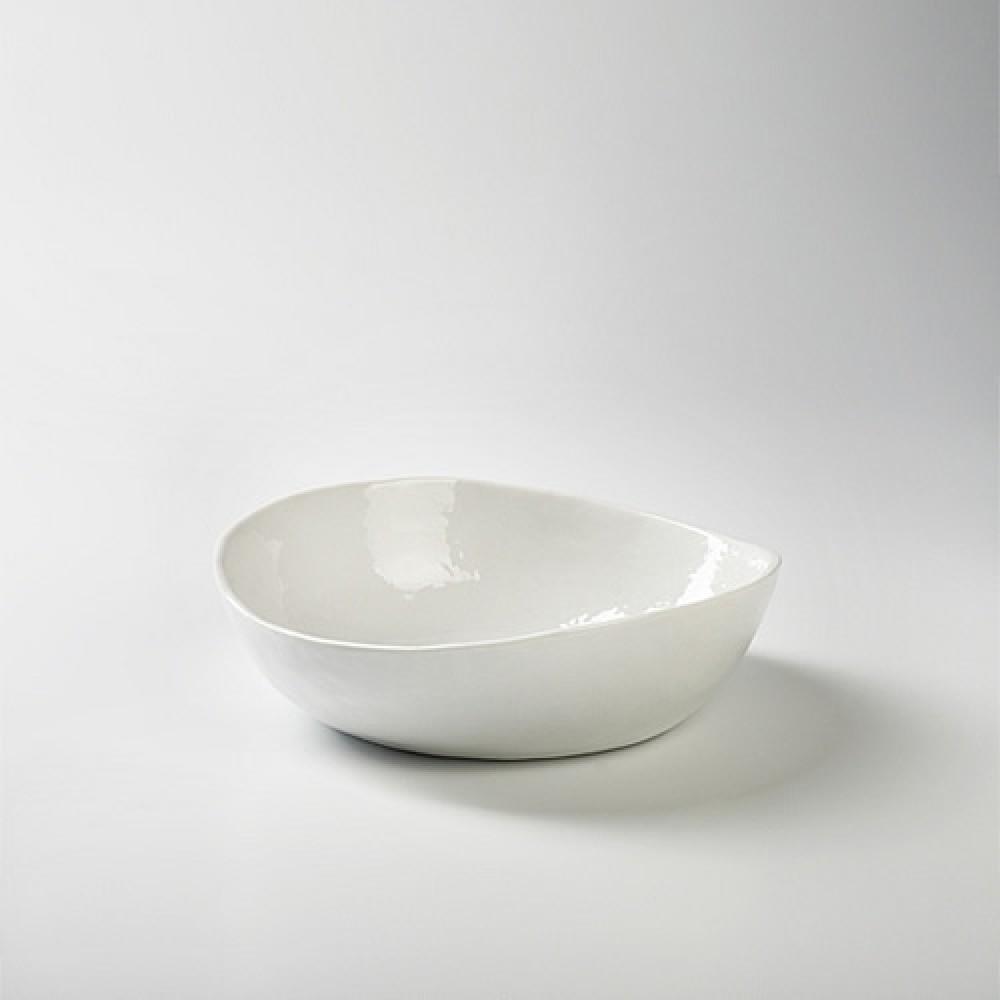 Lambert mittlere Schüssel - Porzellan Piana, Weiß