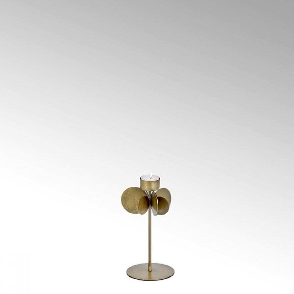 Lambert Teelichthalter Hervee, Bronze, H 22 cm