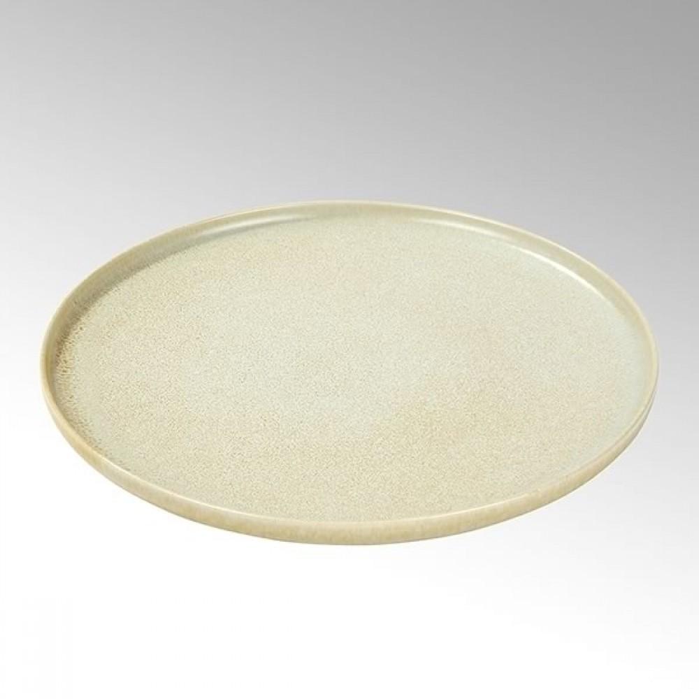 Lambert Teller / Speiseteller Bacoli, Stoneware, Bambus