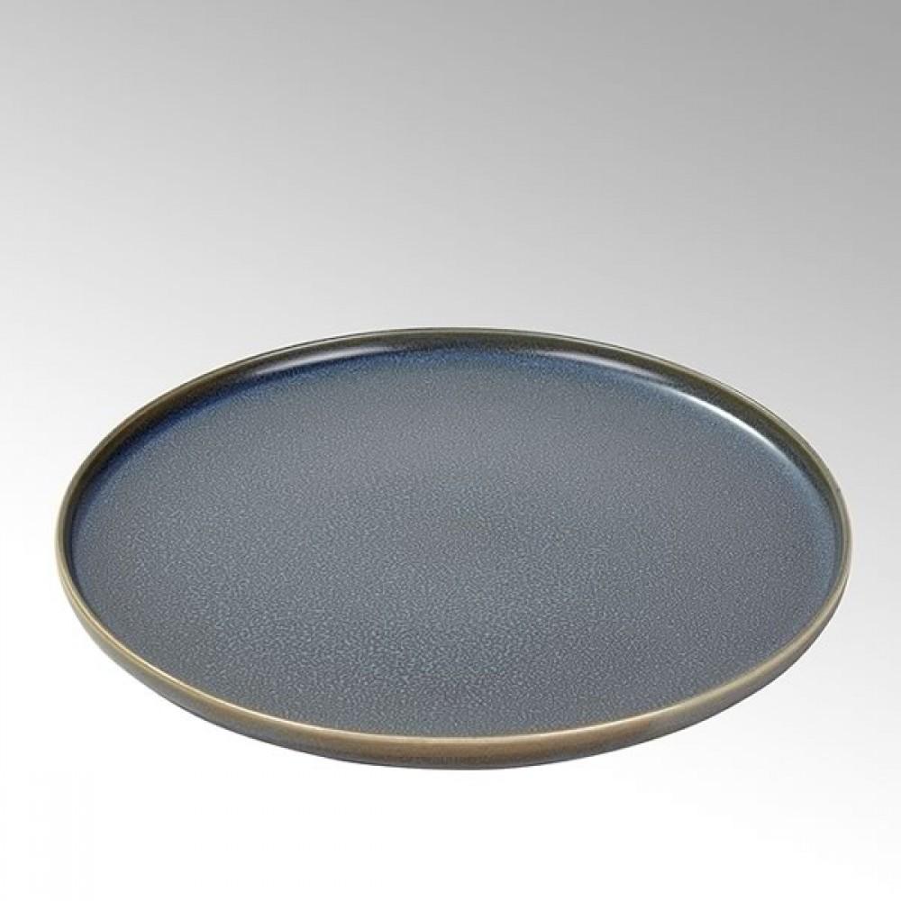 Lambert Teller / Speiseteller Bacoli, Stoneware, Basalt