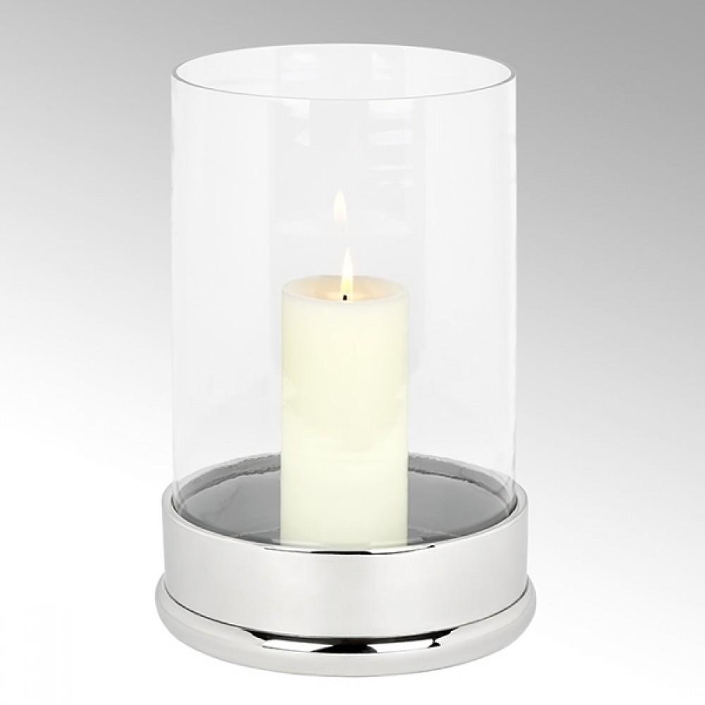 Lambert Windlicht Bao, Silberfarben, H 35,5 cm