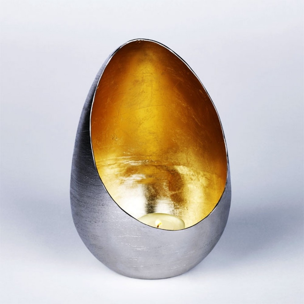 Lambert Windlicht Casati, Gold, groß
