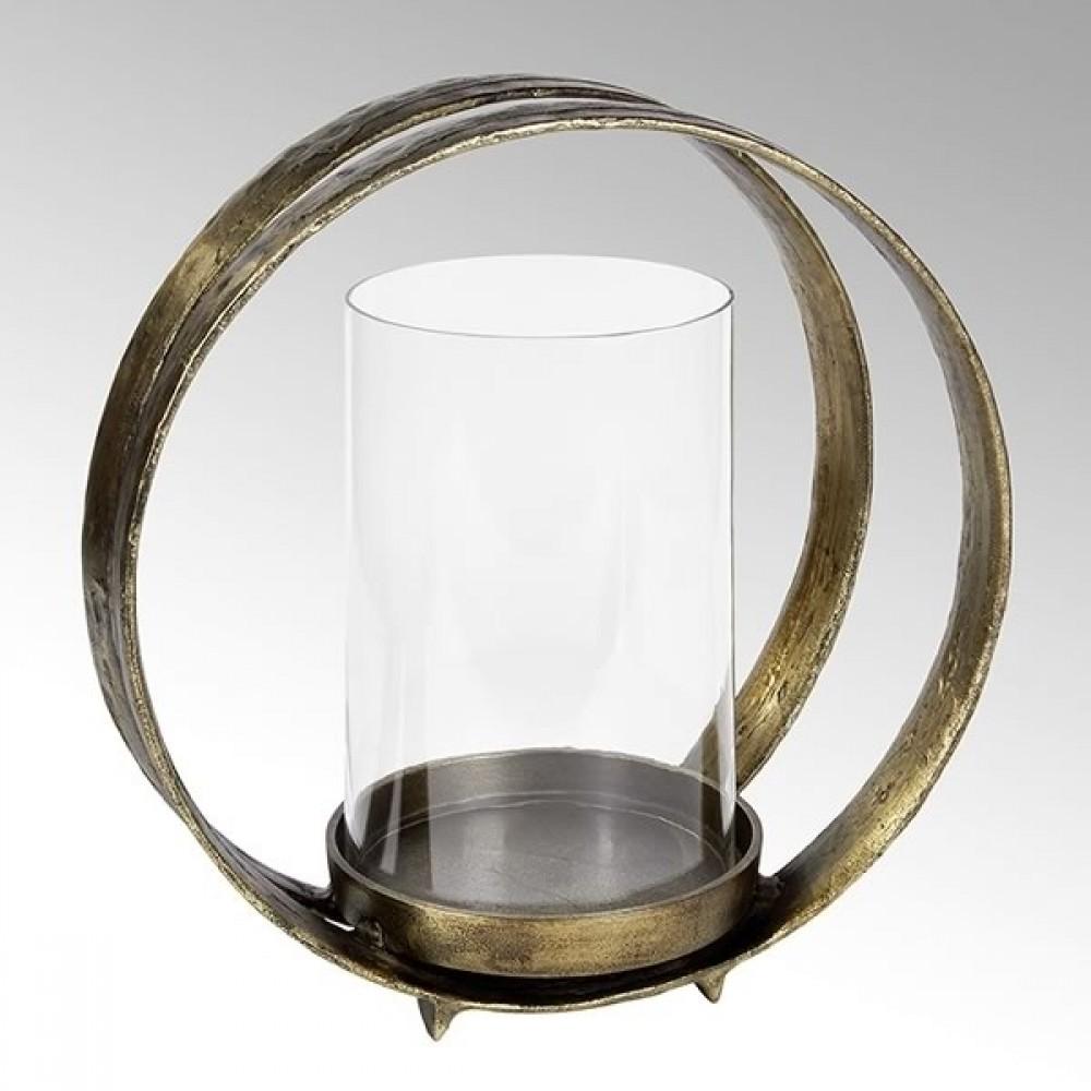 Lambert Windlicht Lumberto, Bronze Antik