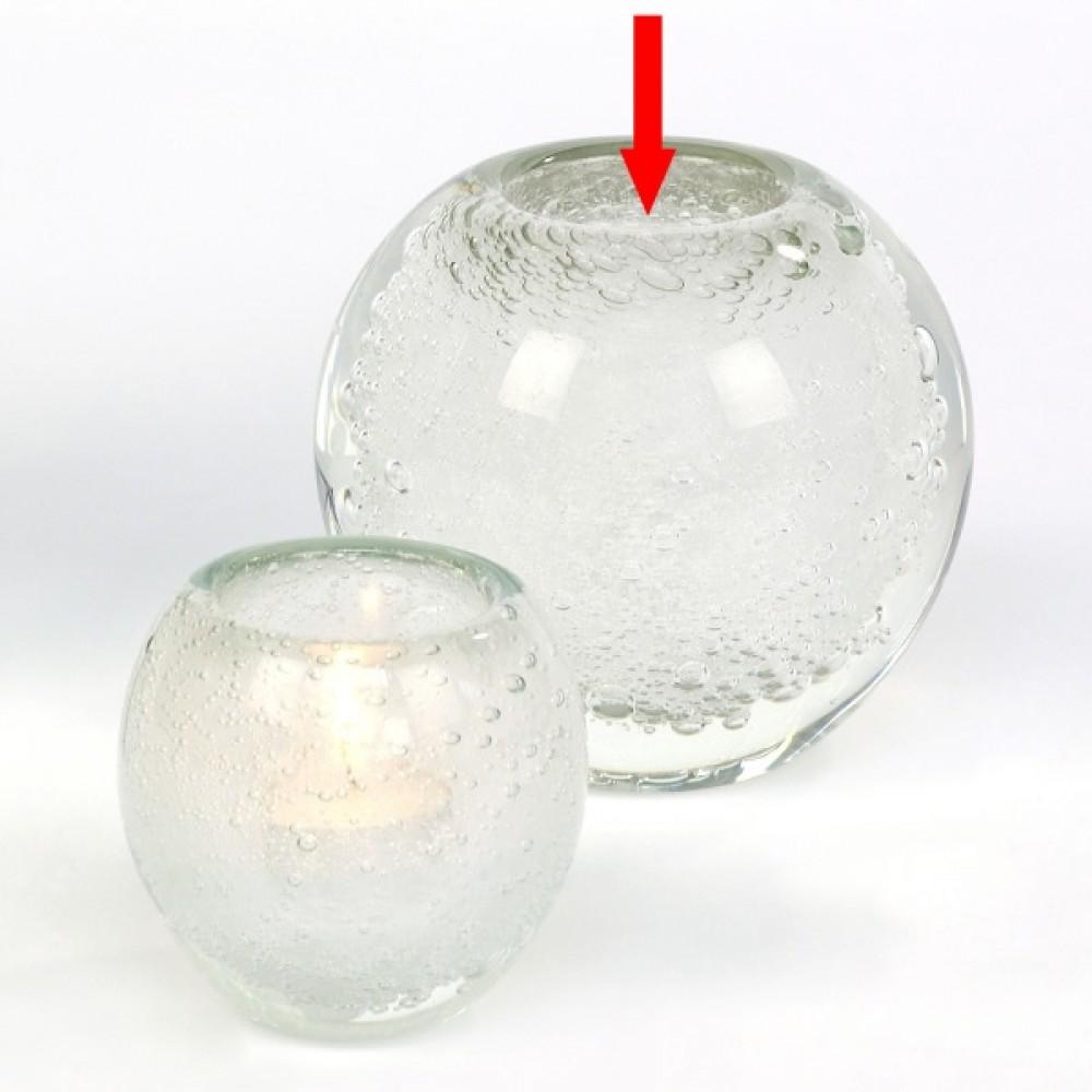 Lambert großes Windlicht / Vase Salviato - Weiß