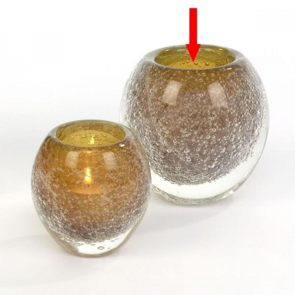 Lambert großes Windlicht / Vase Salviato - Amber