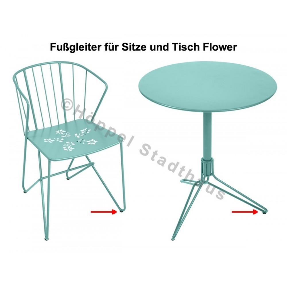 Fermob Fußgleiter für die Sitze und Tisch Flower