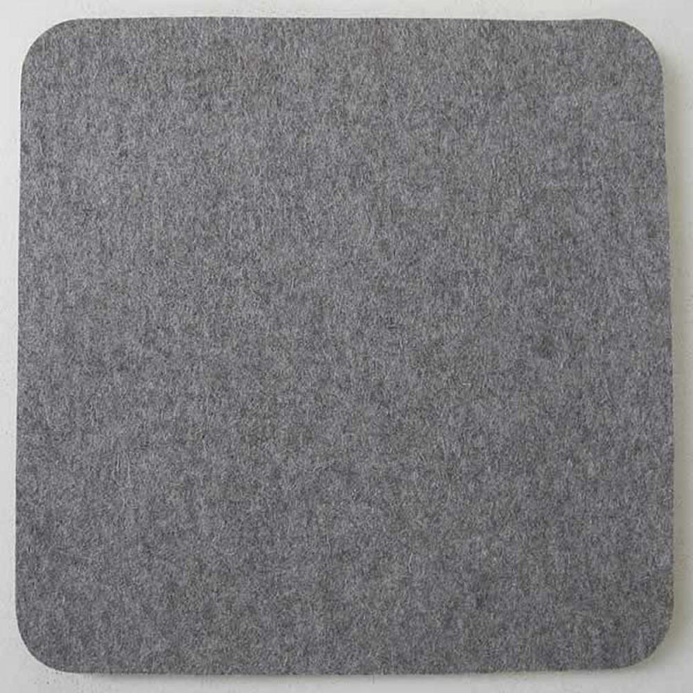 Filz Sitzauflage, Wollfilz, Grau