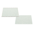 pale turquoise / vanilla / warm grey stripe