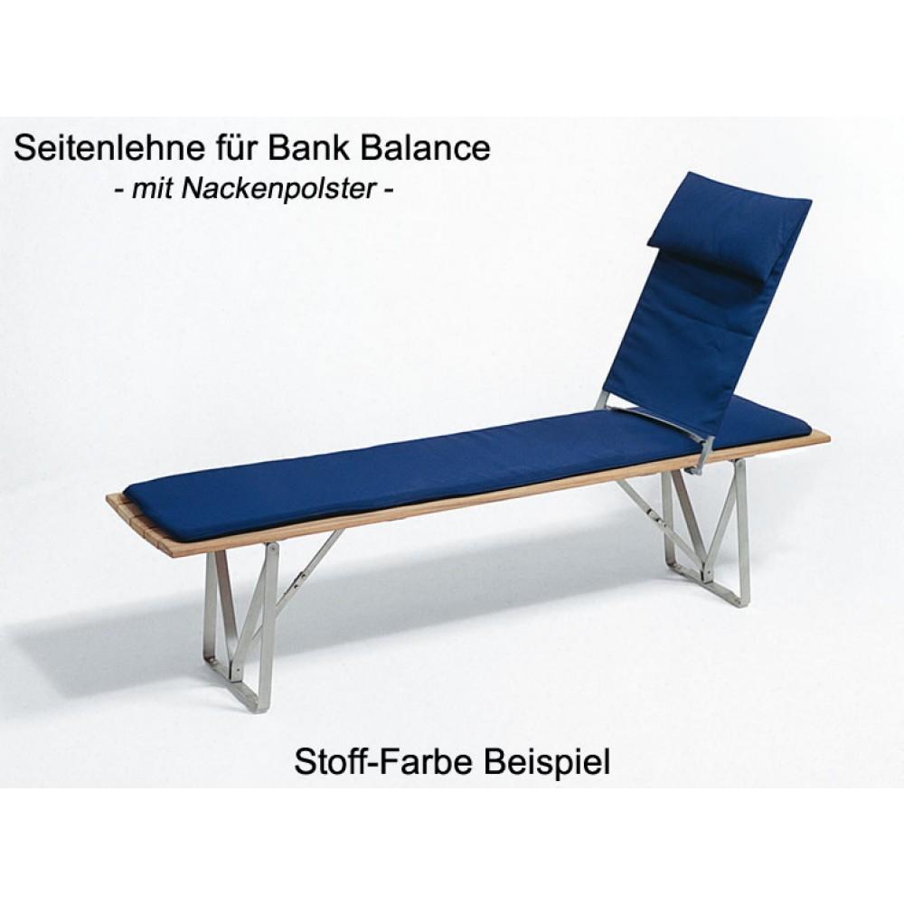 Weißhäupl Seitenlehne für Klappbank Balance, 86 x 54 cm