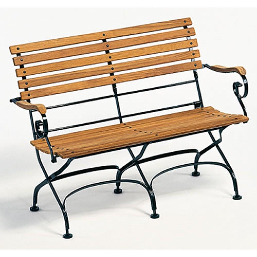 Weishäupl 2-Sitzer Bank Classic mit Armlehnen