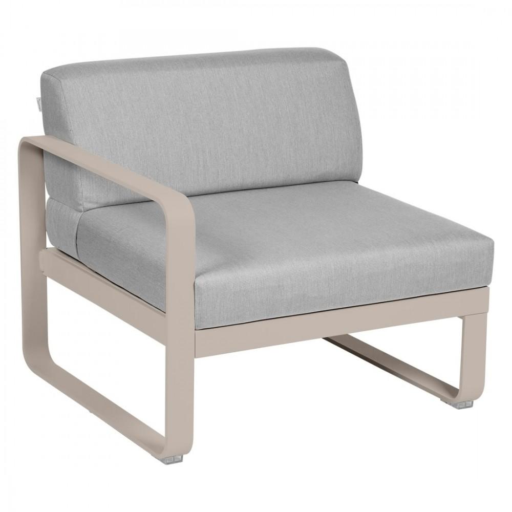 Fermob Sofa-Modul Bellevie, 1-Sitzer, links - Flanellgrau