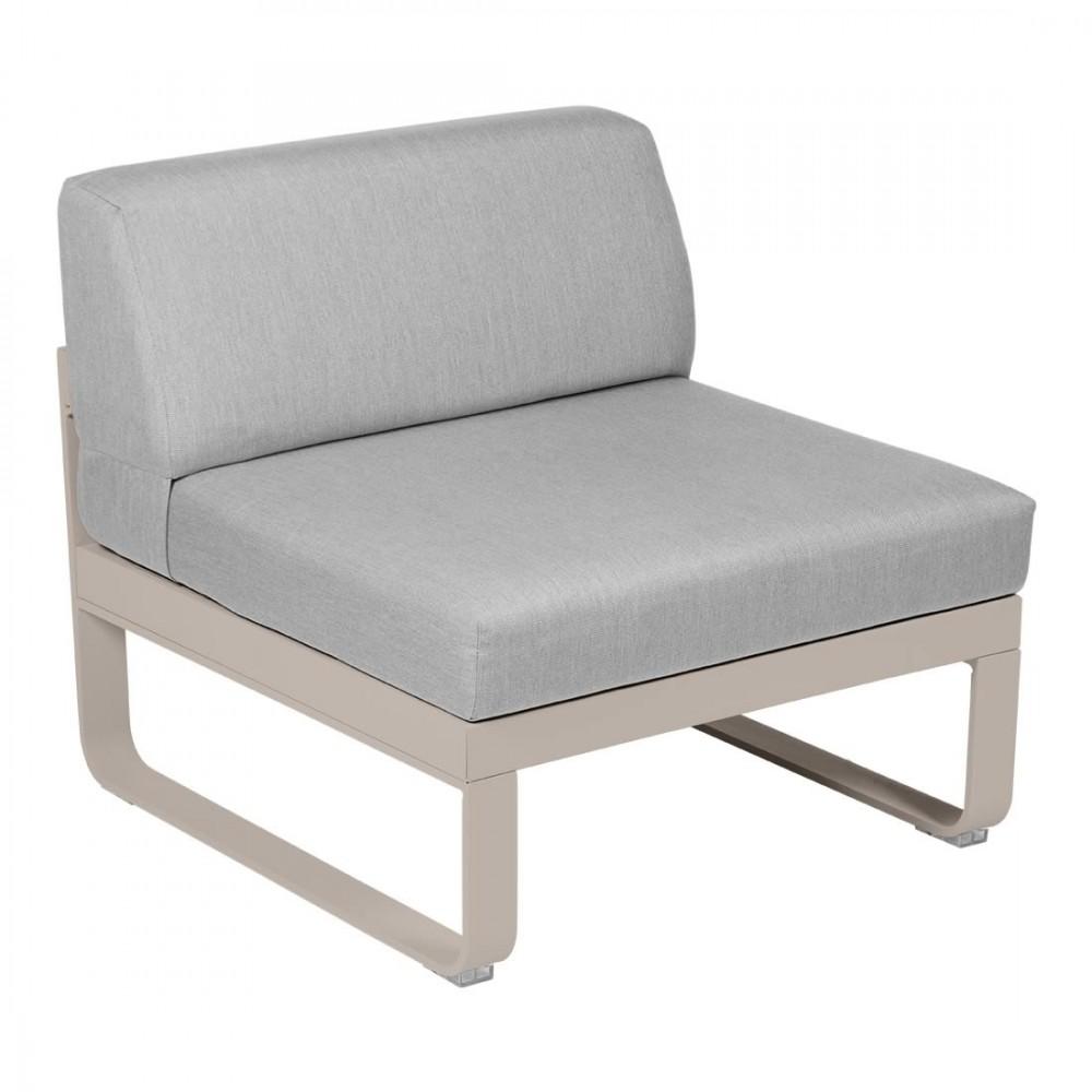 Fermob Sofa-Modul Bellevie, 1-Sitzer, mitte - Flanellgrau
