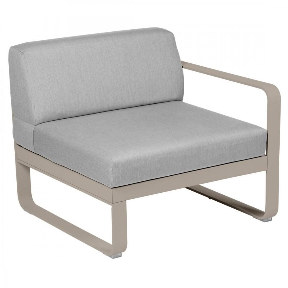 Fermob Sofa-Modul Bellevie, 1-Sitzer, rechts - Flanellgrau